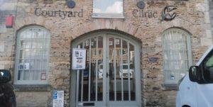 New Clinic - Sign Outside - Courtyard Clinic Malmesbury