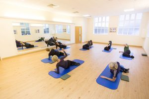 Pilates class in Malmesbury town centre